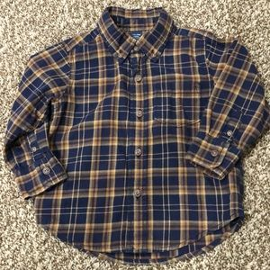 Baby Gap Plaid Button Up